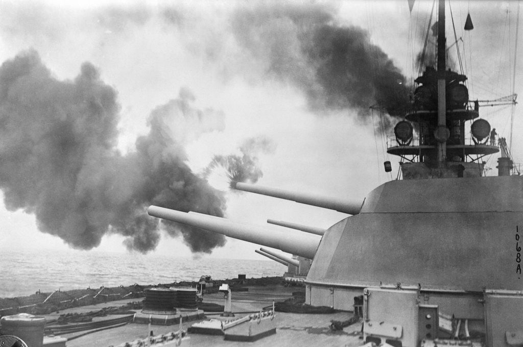 Detail of German Battle Cruiser by Corbis