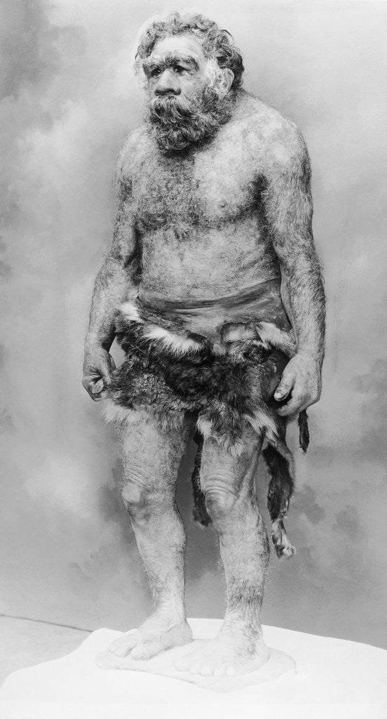 Detail of Cave Man by Corbis