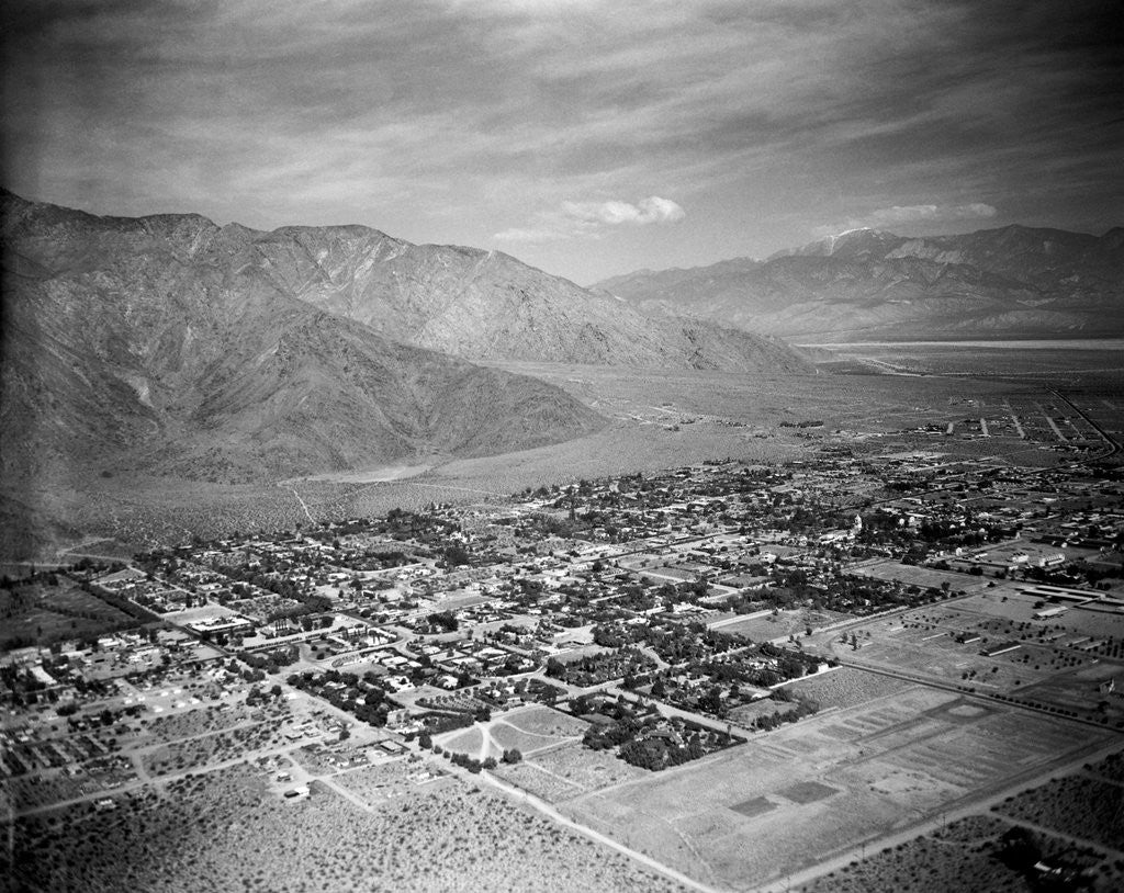 Detail of Aerial View of Palm Springs by Corbis