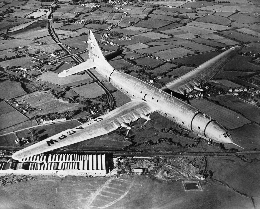 Detail of Bristol Brabazon Aircraft in Flight by Corbis