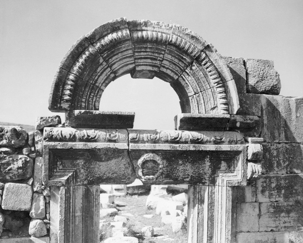 Detail of An Ancient Marble Portal From a Synagogue by Corbis
