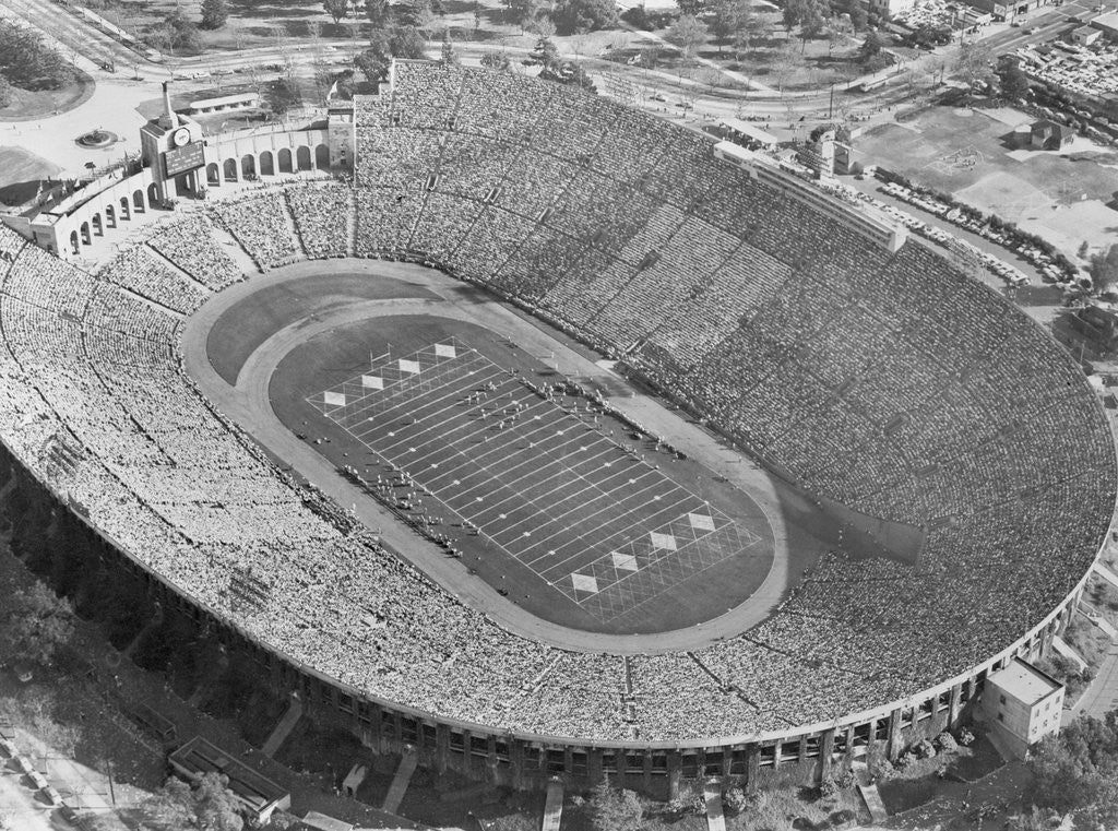 Aerial View of the Los Angeles Coliseum by Corbis