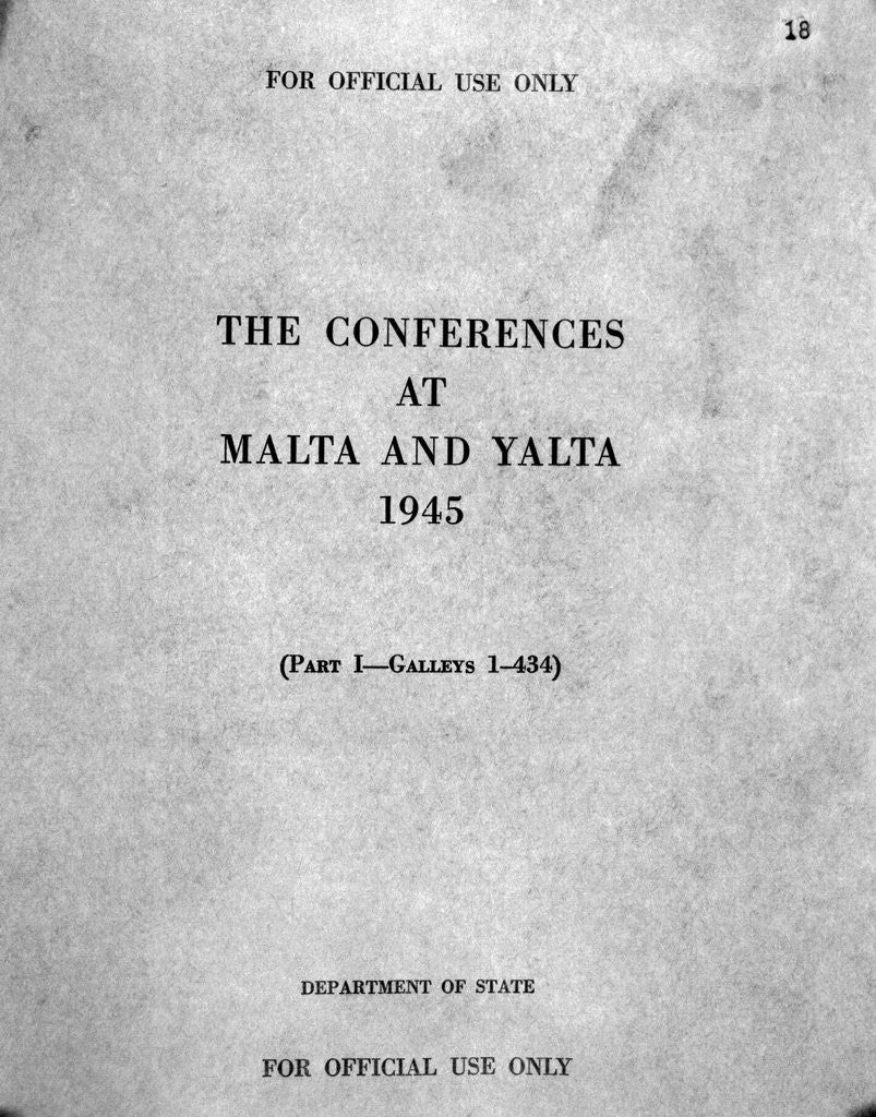 Detail of Cover of The Conferences at Malta and Yalta by Corbis