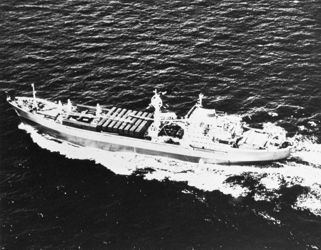 Detail of Aerial View of Ship by Corbis
