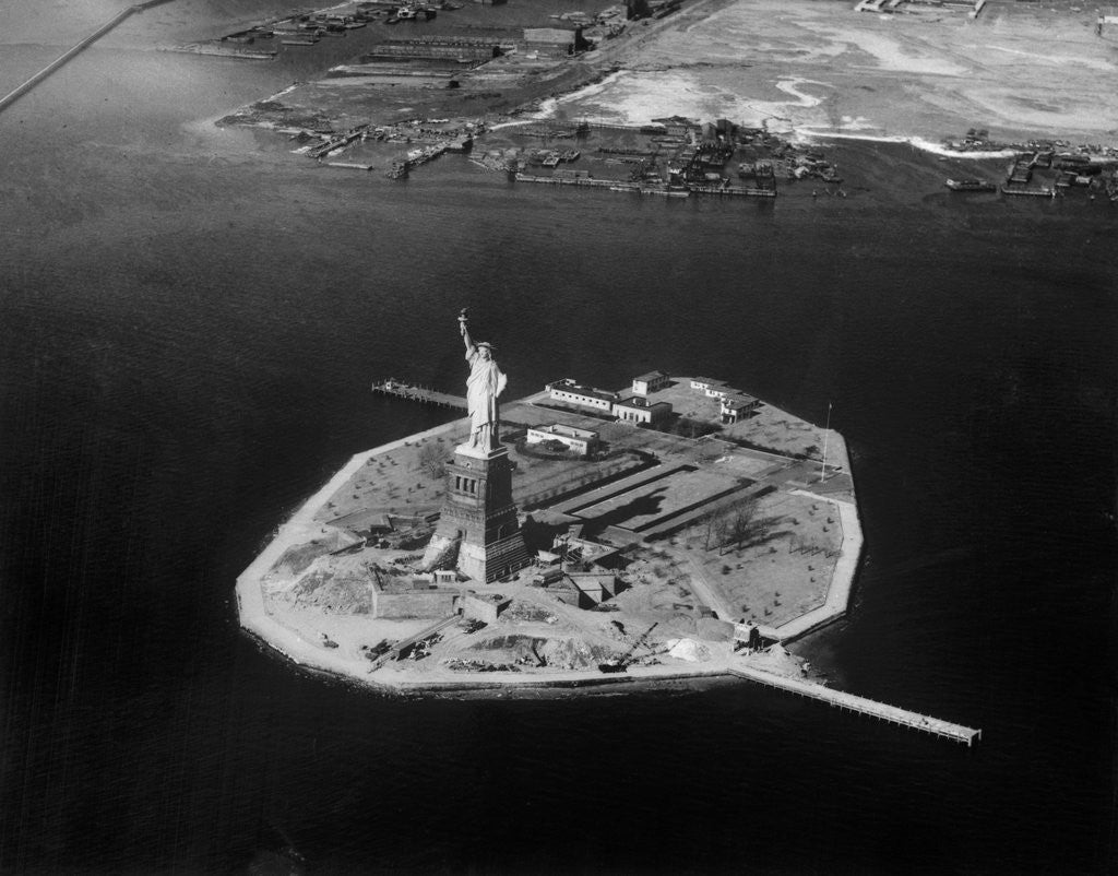 Detail of Aerial View of Liberty Island by Corbis