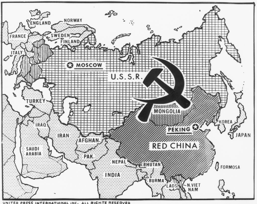 Great Decisions Map of Communist Countries