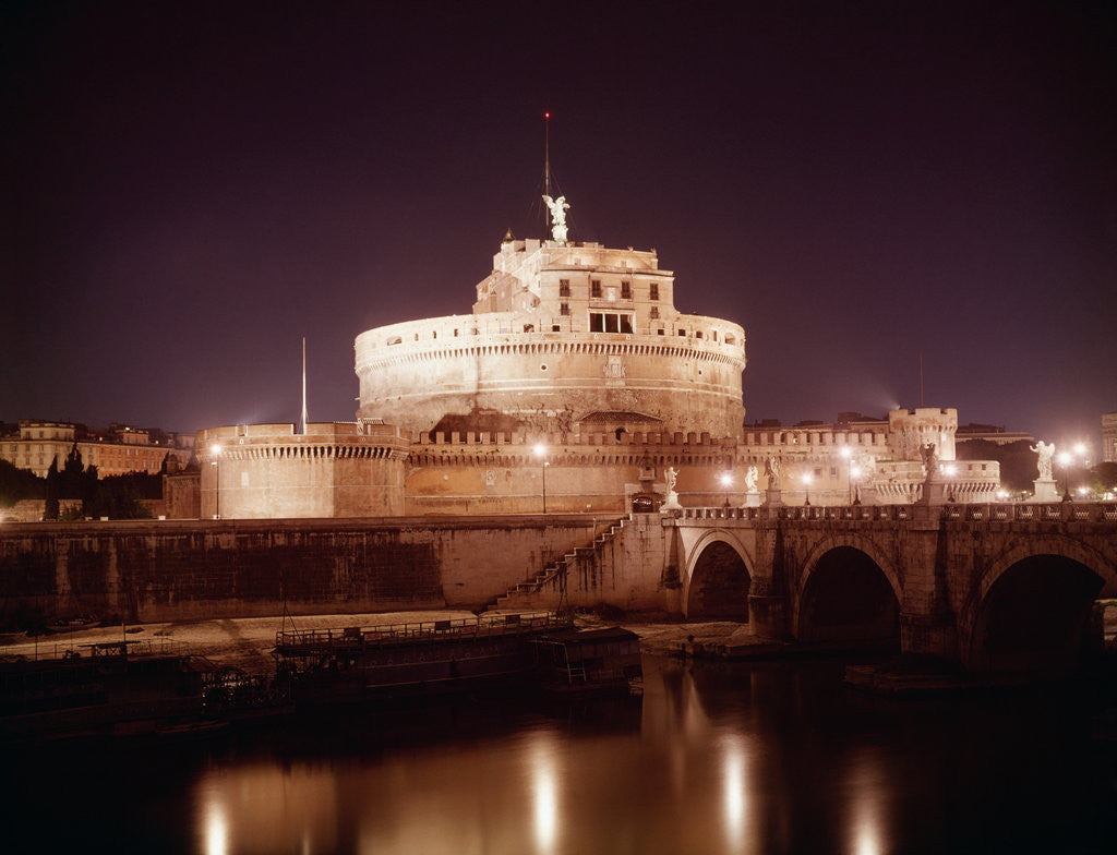 Detail of Castle Sant' Angelo by Corbis
