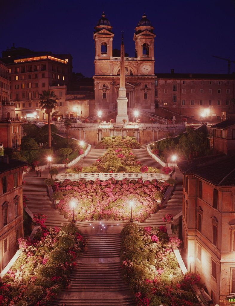 Detail of Spanish Steps by Corbis
