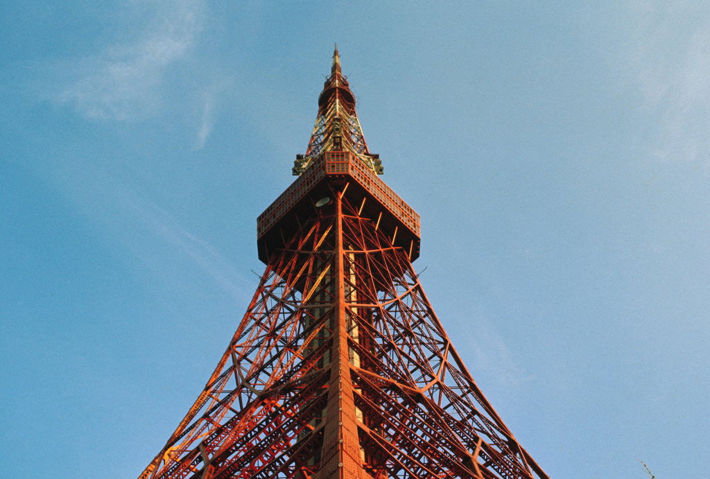 Detail of View of Tokyo Tower Located in Center of City by Corbis