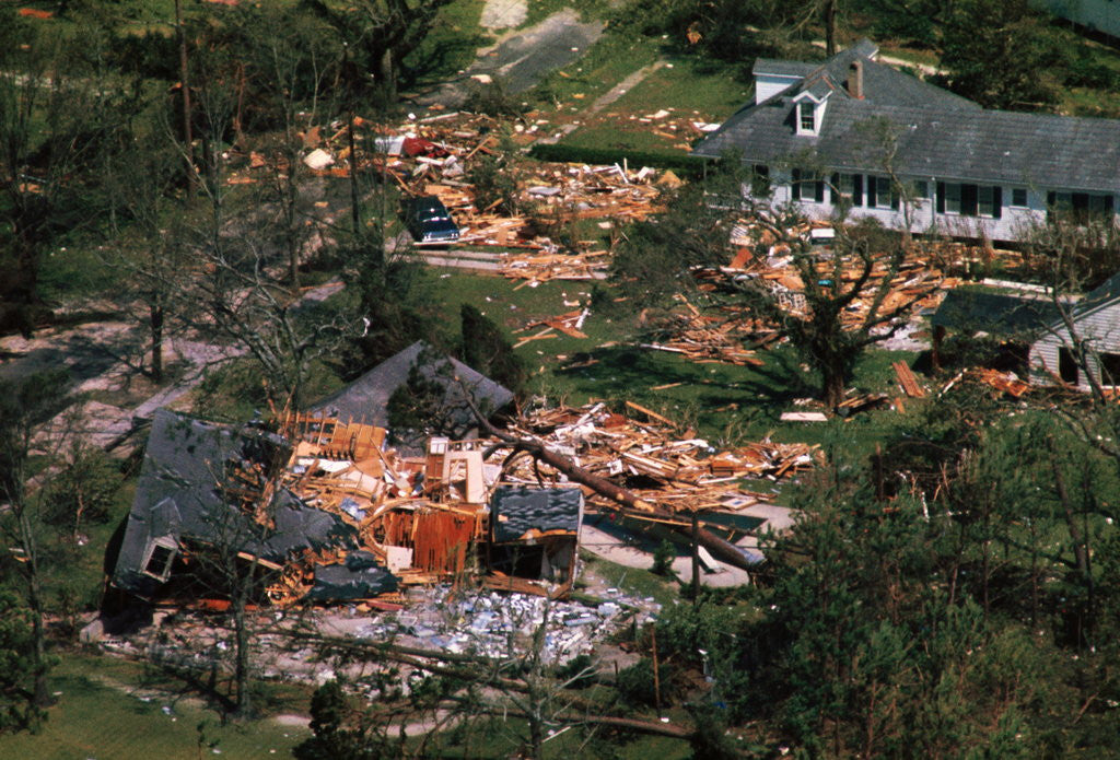 Detail of Damage Left by Hurricane Camille by Corbis