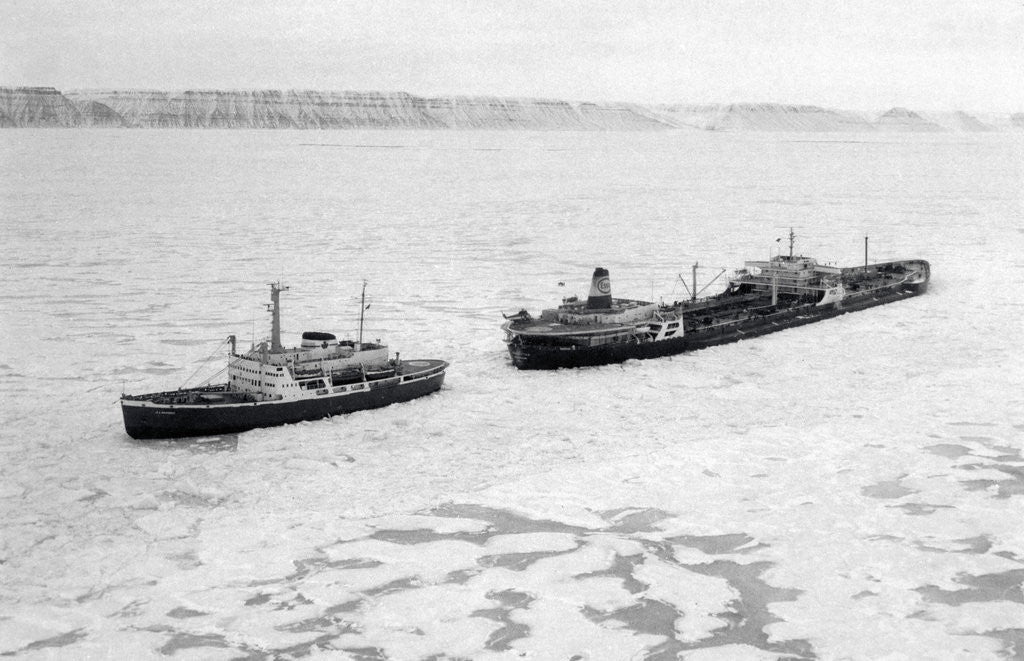 Icebreaker Manhattan Following the Coast Guard Icebreaker by Corbis
