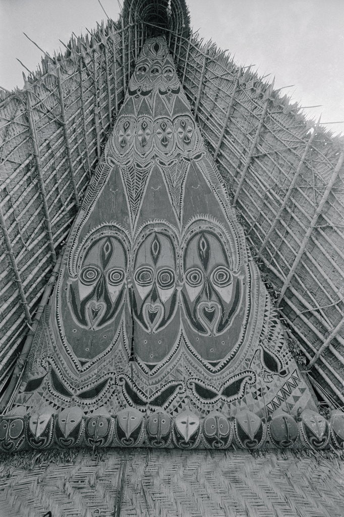 Detail of Detail of Traditional Ancestral Worship House in Papua New Guinea by Corbis