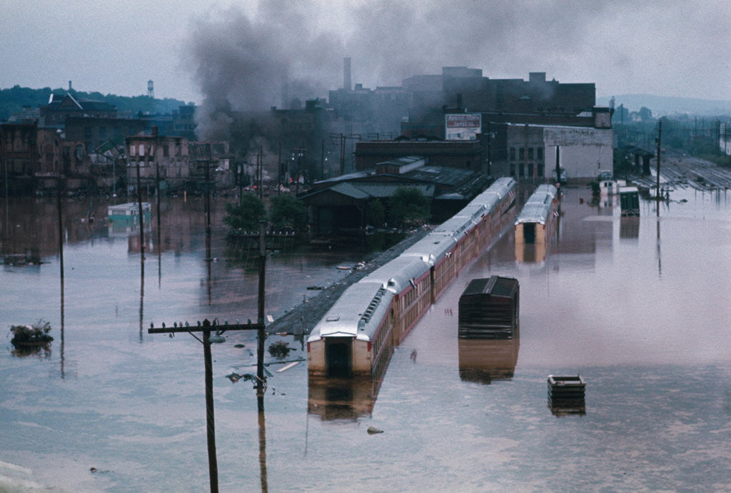 Detail of Flood in City of Wilkes-Barre by Corbis