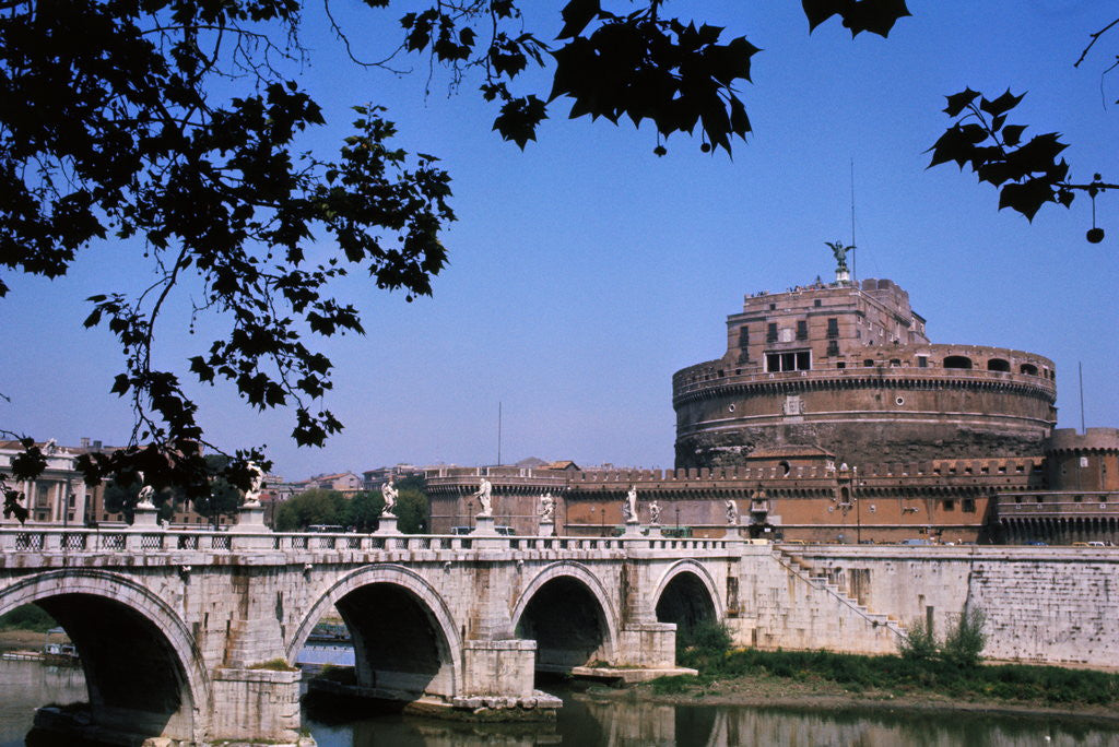Detail of Bridge of Angels and Castel Sant' Angelo by Corbis
