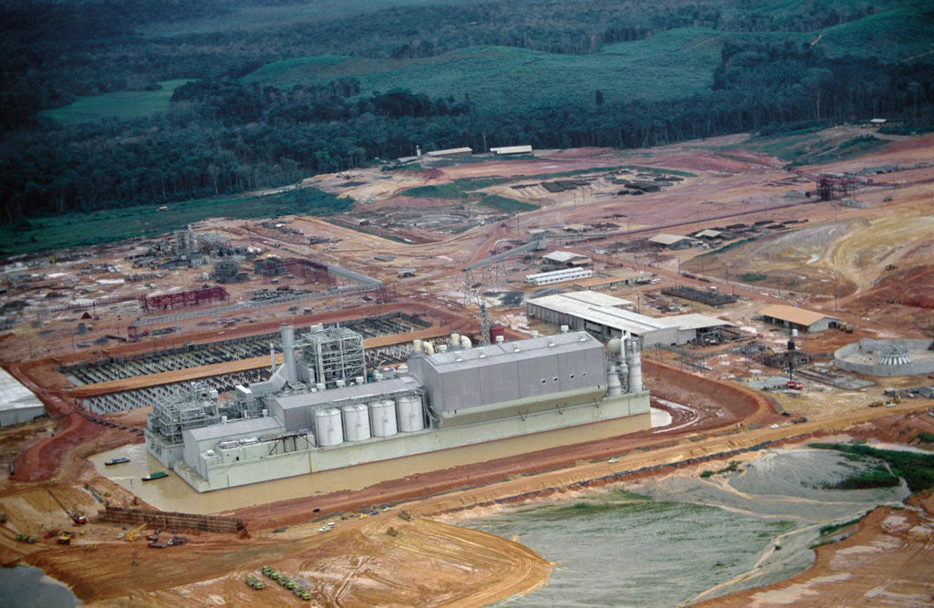 Detail of Aerial View of Pulp Mill by Corbis