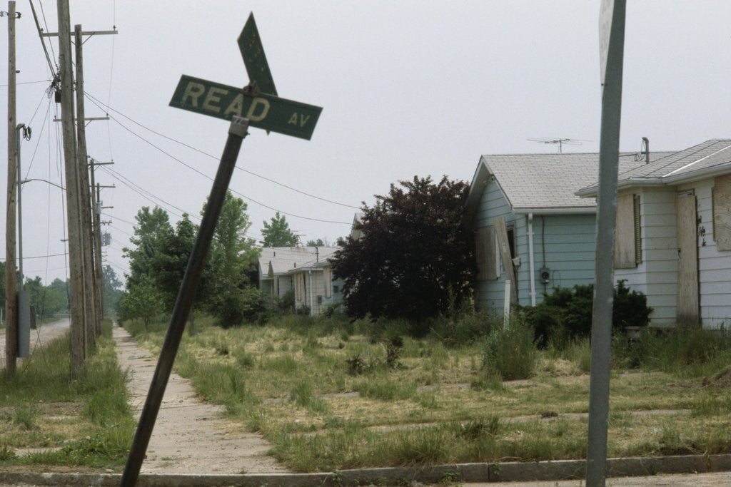 Detail of Derelict Suburban Street by Corbis