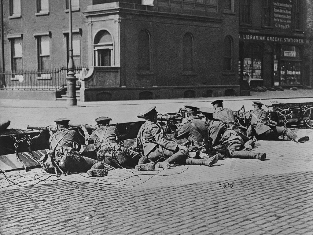 Detail of British Troops Seal-Off Dublin Streets during