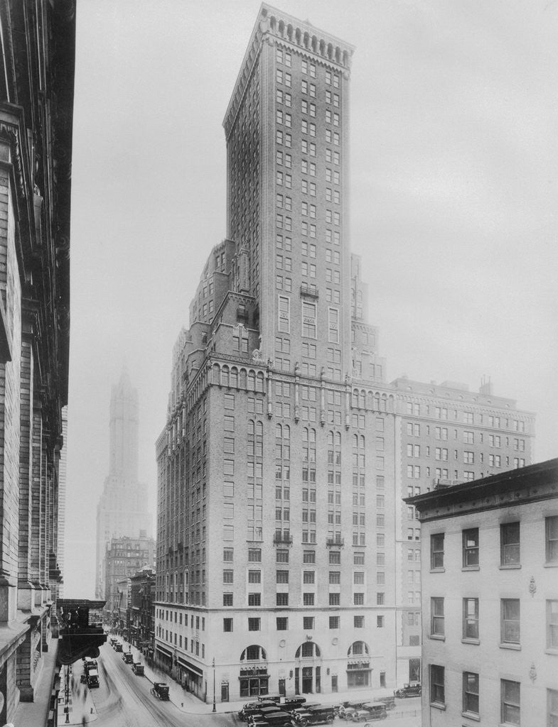 Detail of Exterior View of the Hotel Delmonico by Corbis