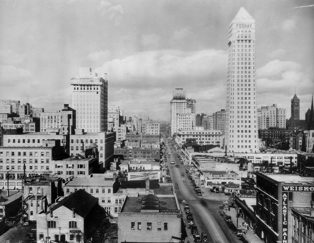 Detail of General View of Minneapolis by Corbis