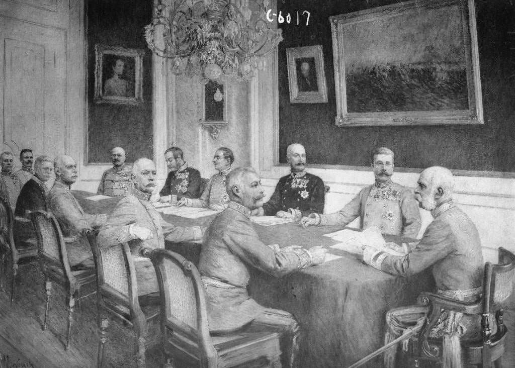 Detail of Franz Joseph Holding Military Conference by Corbis
