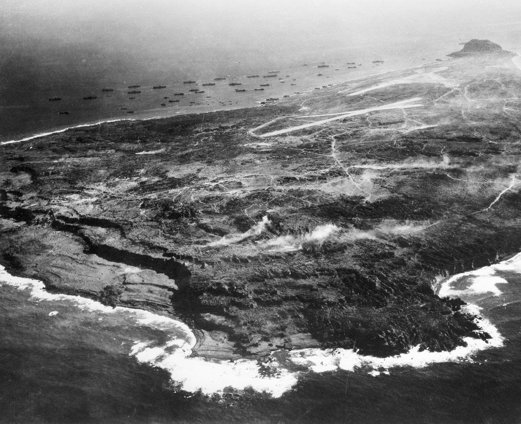 Detail of Aerial View of Iwo Jima by Corbis