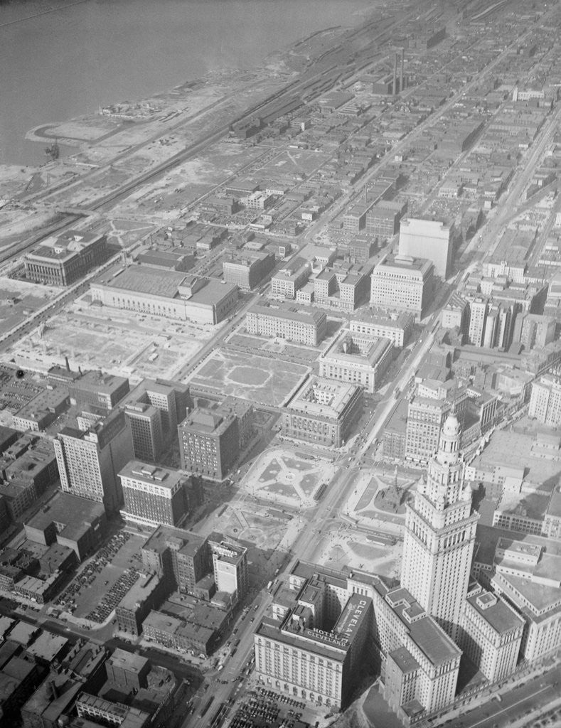 Detail of Aerial View of Cleveland by Corbis