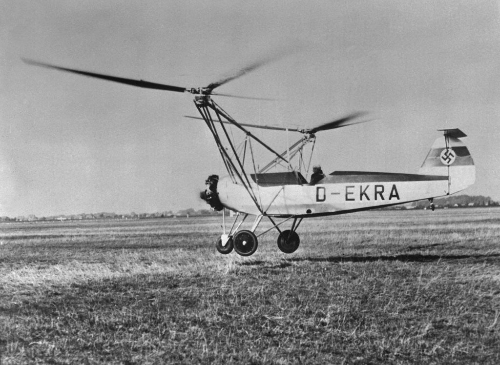 Detail of An Early Model of the Modern Helicopter by Corbis