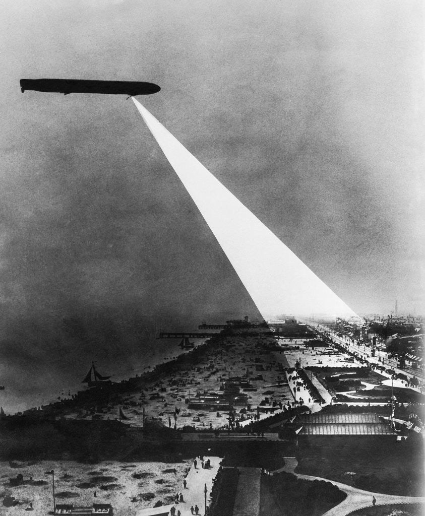 Detail of Composite Picture of Zeppelin Over Yarmouth by Corbis