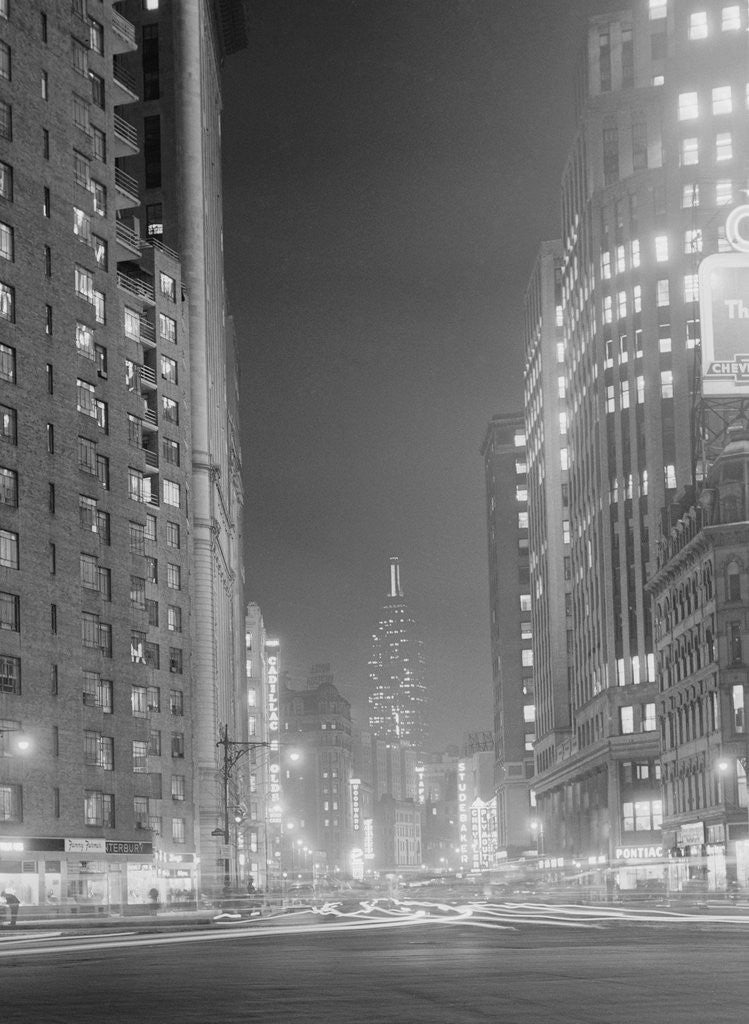 Detail of Columbus Circle Toward Empire State Building by Corbis