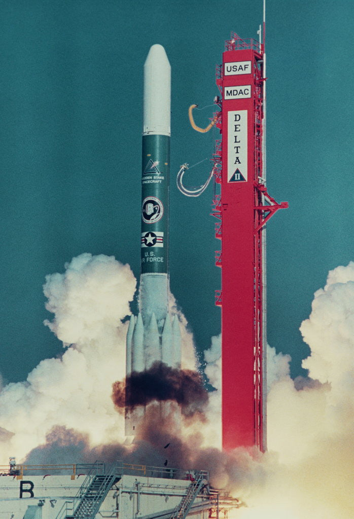 Detail of American Rocket Blasting into Space by Corbis