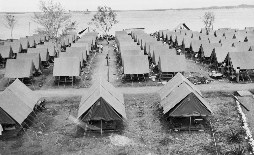 Detail of Campsite of Marines on Foreign Land by Corbis