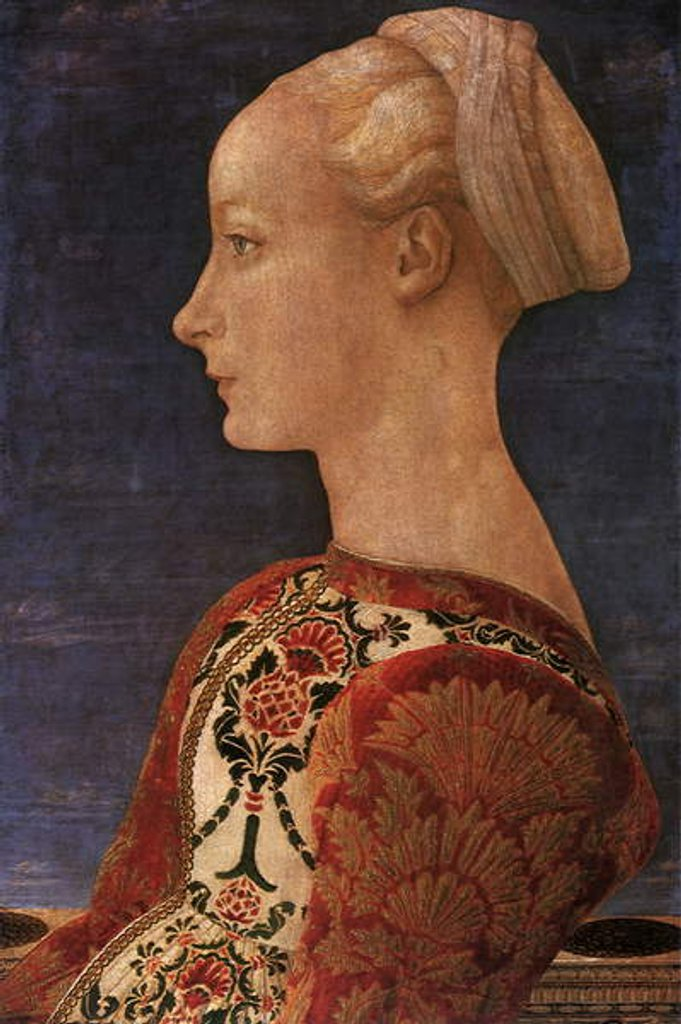 Detail of Profile Portrait of a Young Lady, 1465 by Antonio Pollaiuolo