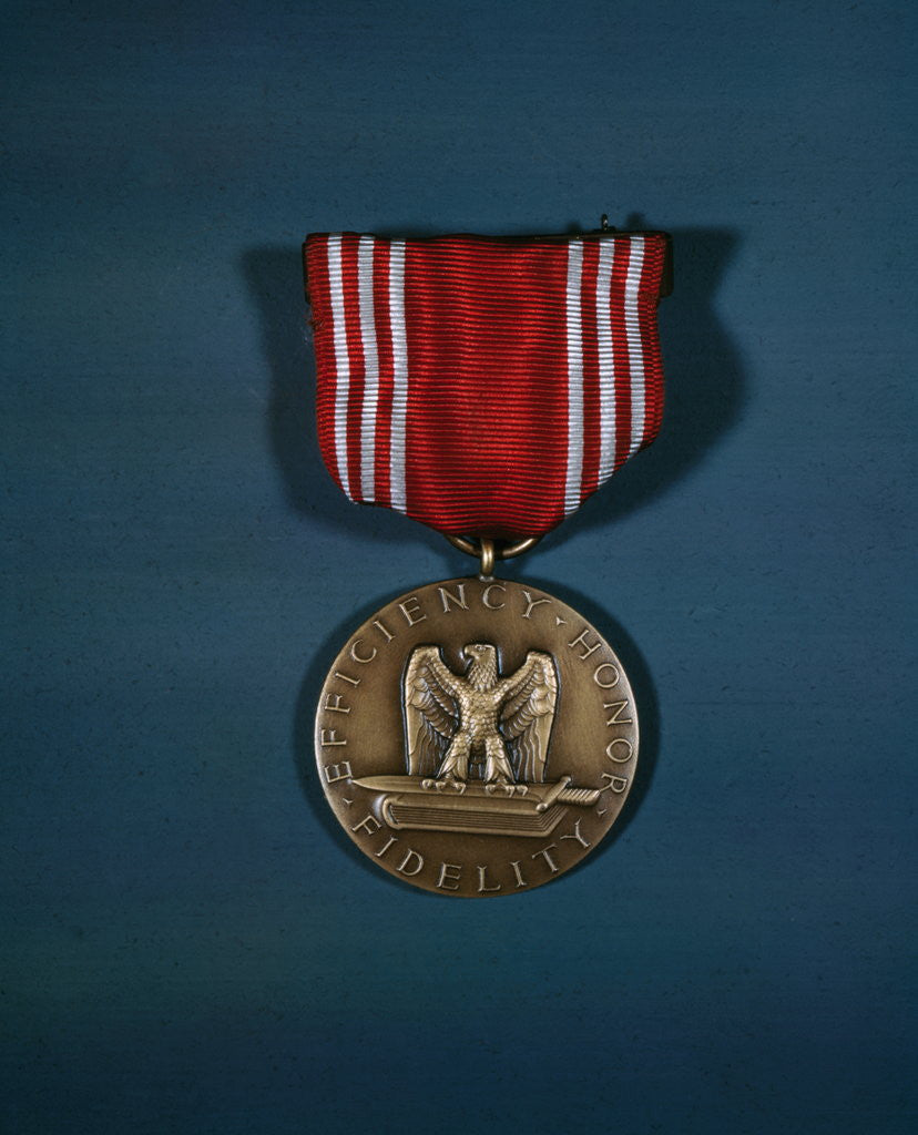 Detail of Good Conduct Medal for Service by Corbis
