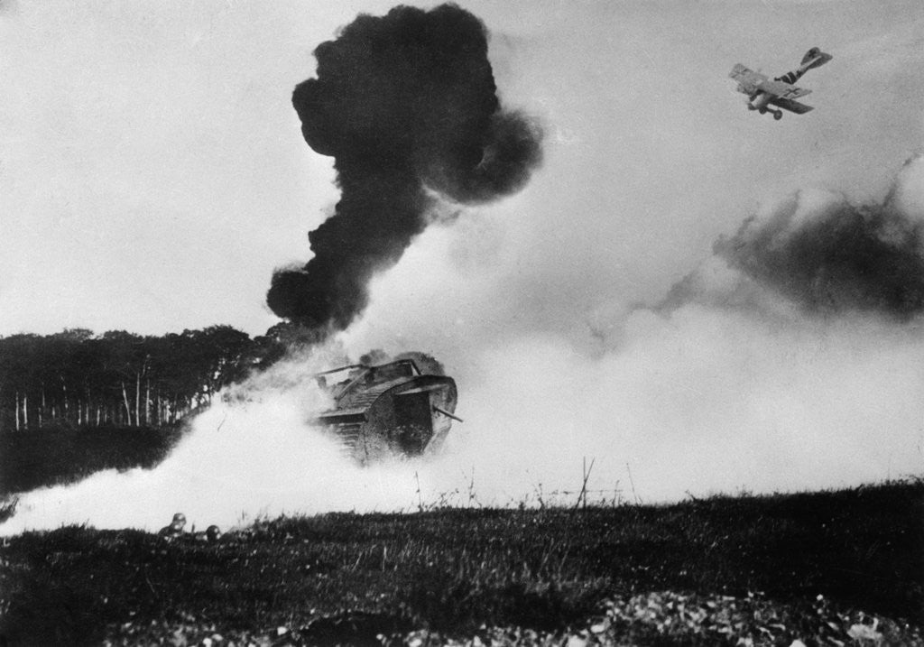 Detail of Airplane Shooting at a Tank by Corbis