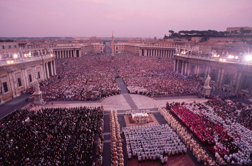 Detail of Crowds in Saint Peter's Square by Corbis