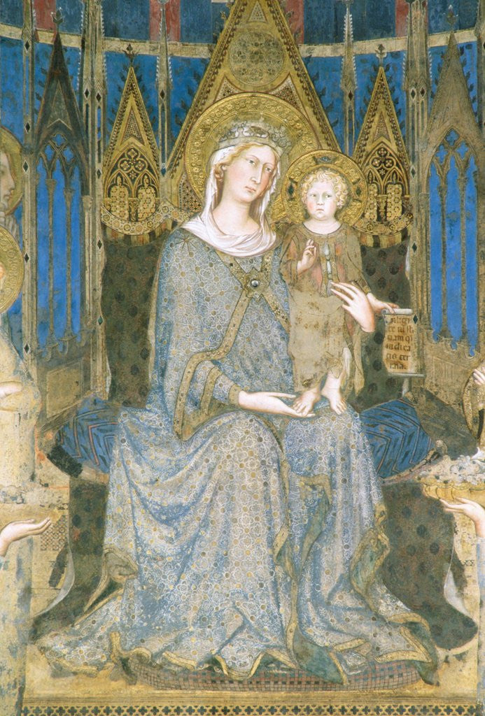 Detail of Detail of Virgin and Child Enthroned from Maesta by Simone Martini