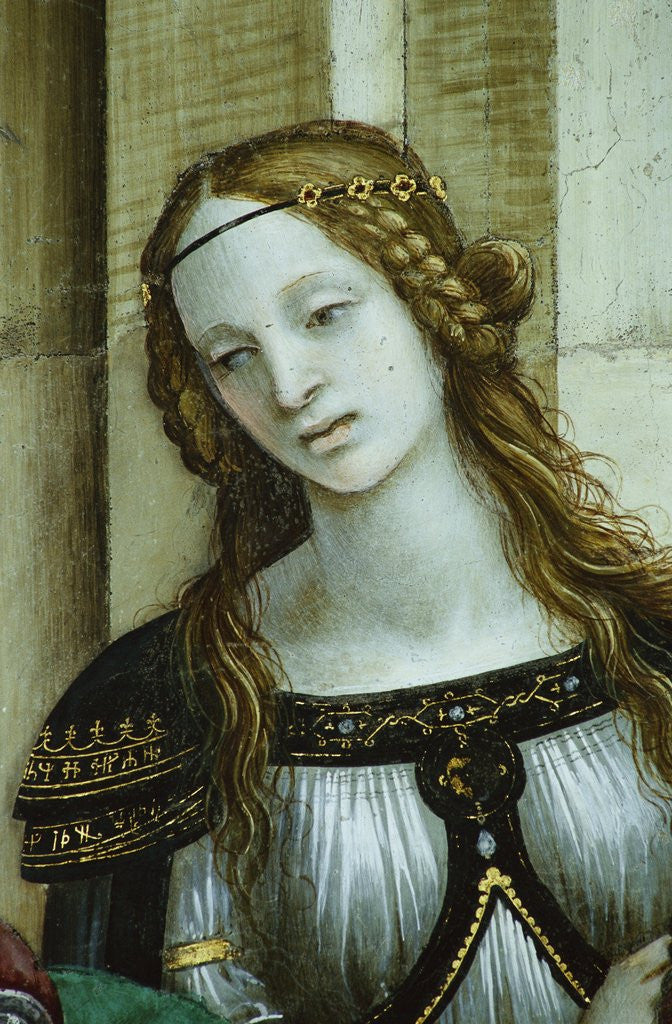 Detail of Detail of Young Woman from Saint John the Evangelist Reuscitating Druisana by Filippino Lippi