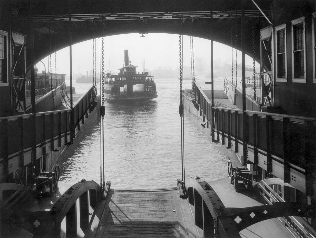 Detail of Ferry Landing in Manhattan by Corbis