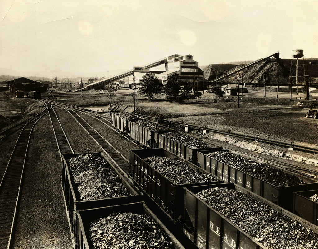 Detail of Colliery of Philadelphia & Reading Coal and Iron Company by Corbis