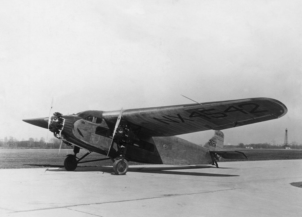 Detail of Byrd's Plane Parked on Runway by Corbis
