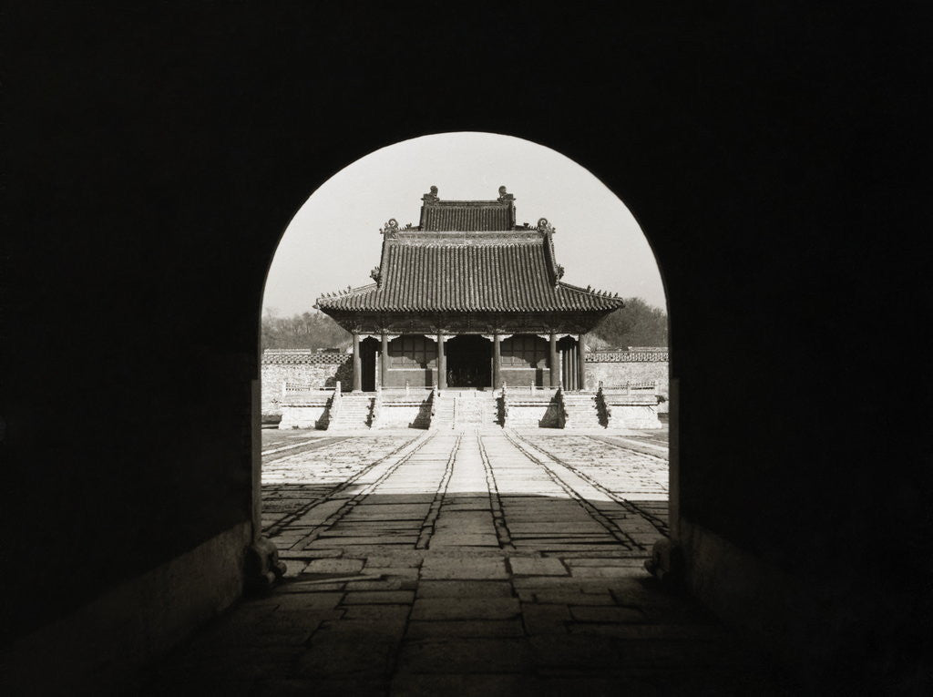 Detail of Chinese Mausoleum by Corbis