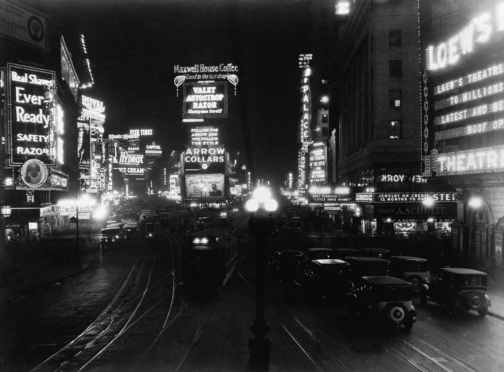 Detail of Cars Driving in Times Square by Corbis