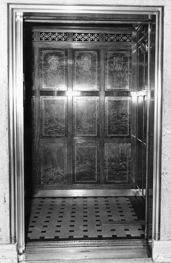 Detail of An Otis Elevator Inside a Hotel by Corbis