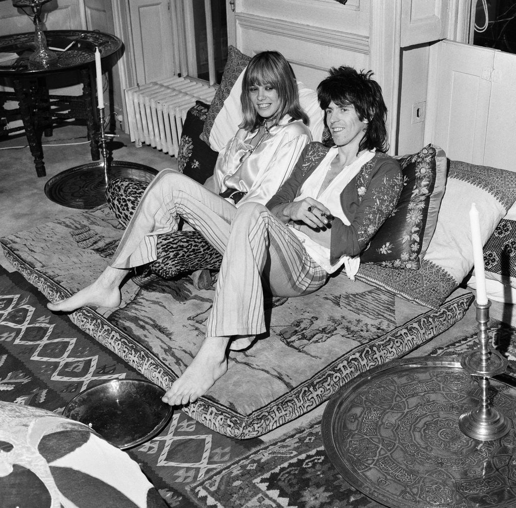 Detail of Keith Richards with Anita Pallenberg by Staff