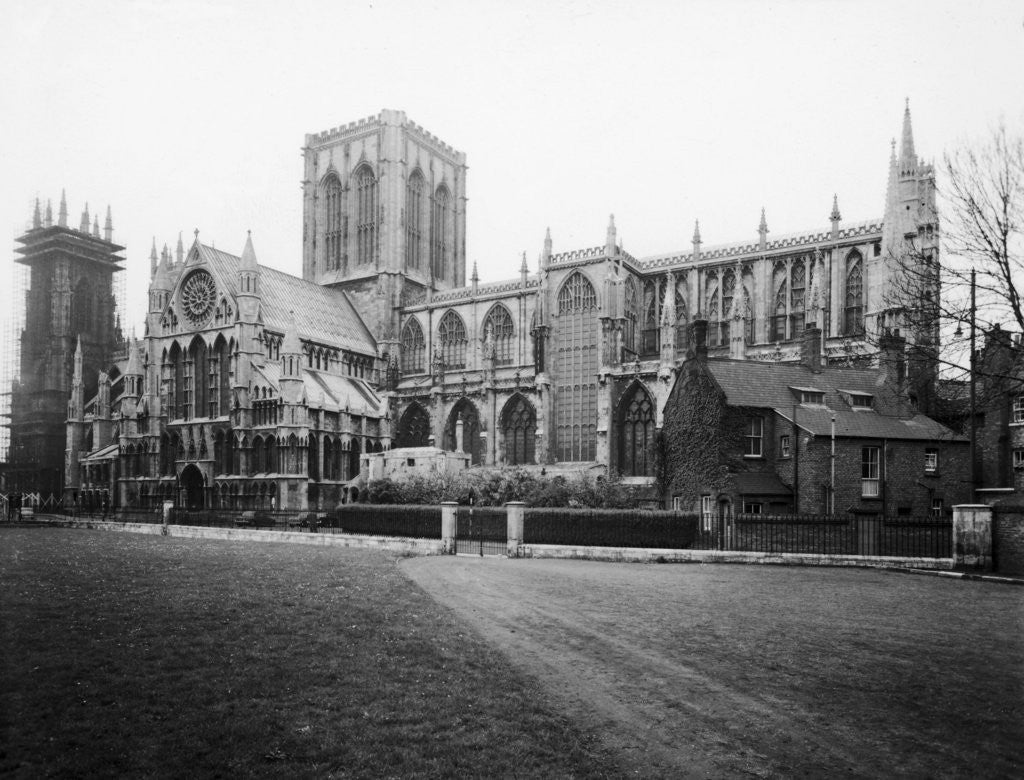Detail of A general view of York Minster by Anonymous