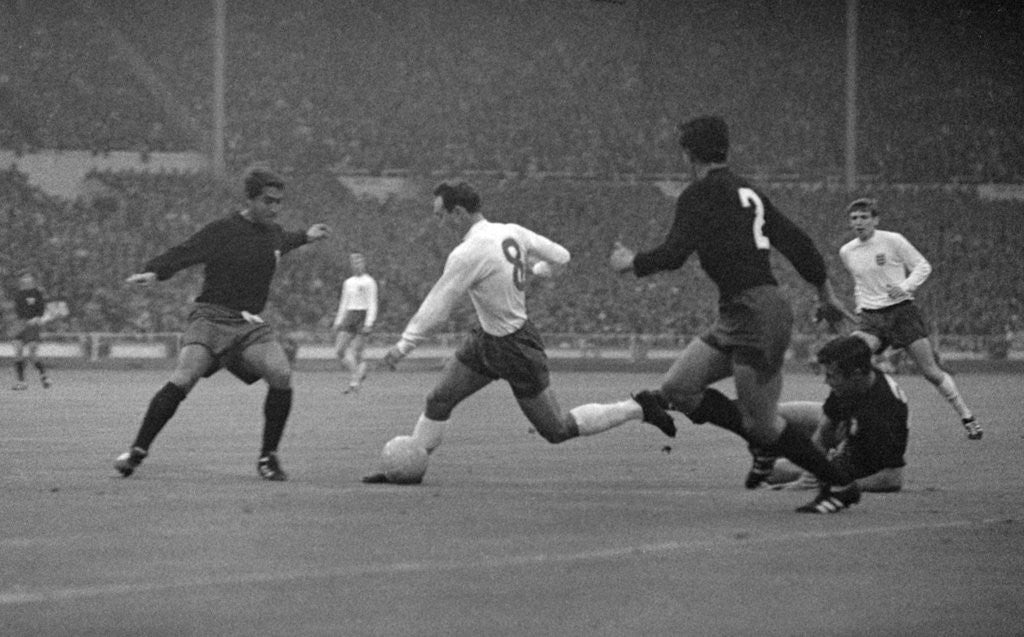 Detail of 1966 World Cup First Round Group 1 match at Wembley. England 2 v Mexico 0. by Monte Fresco