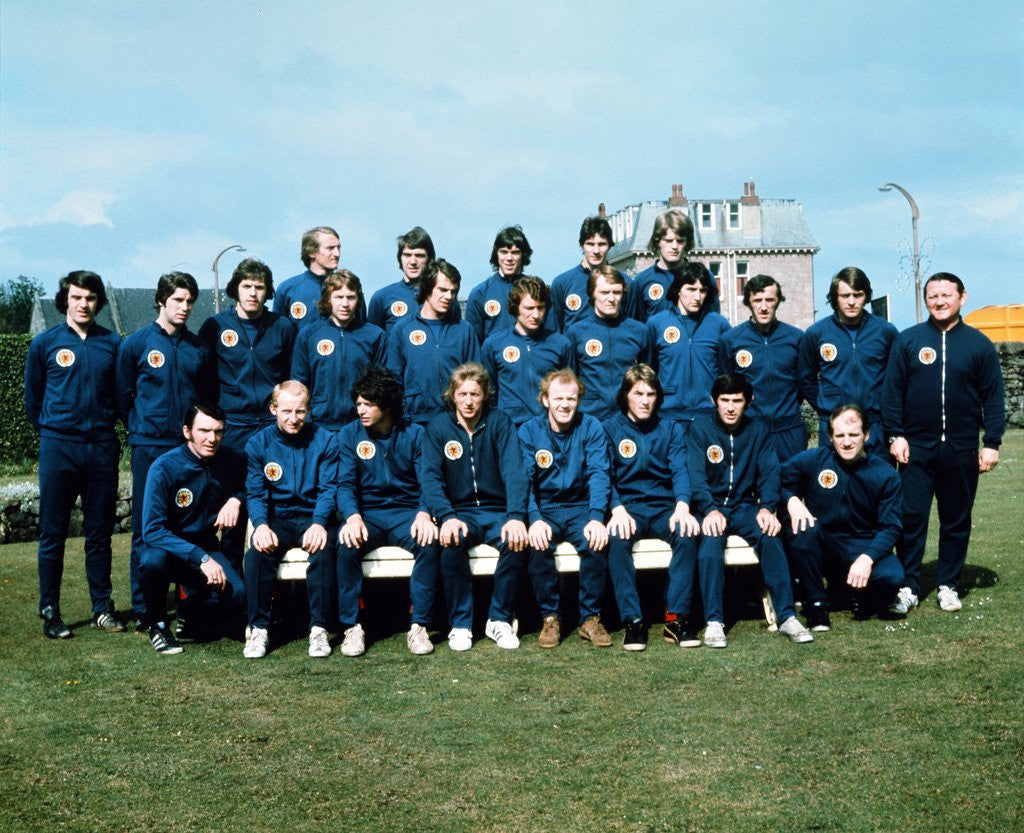 Detail of Scottish Football team photo 1974 by Anonymous