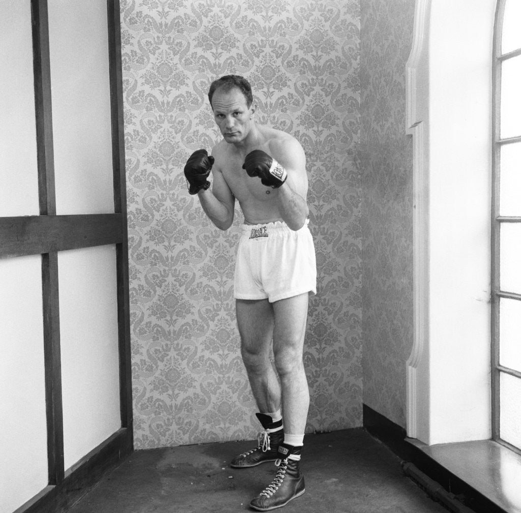 Detail of Henry Cooper in training by Monte Fresco