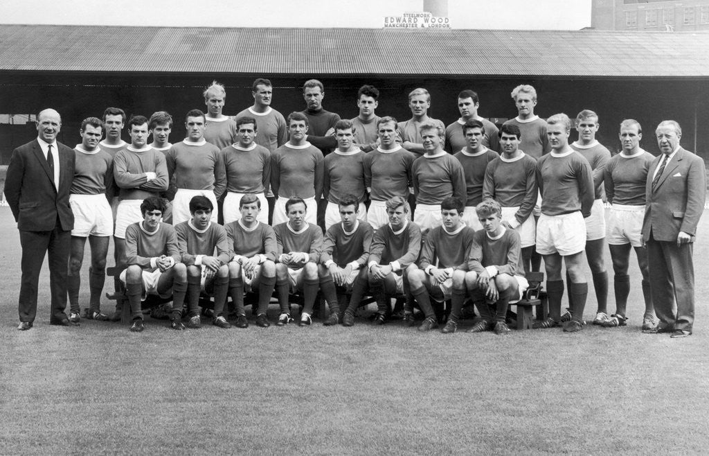Detail of 1963 Manchester United line up by Staff