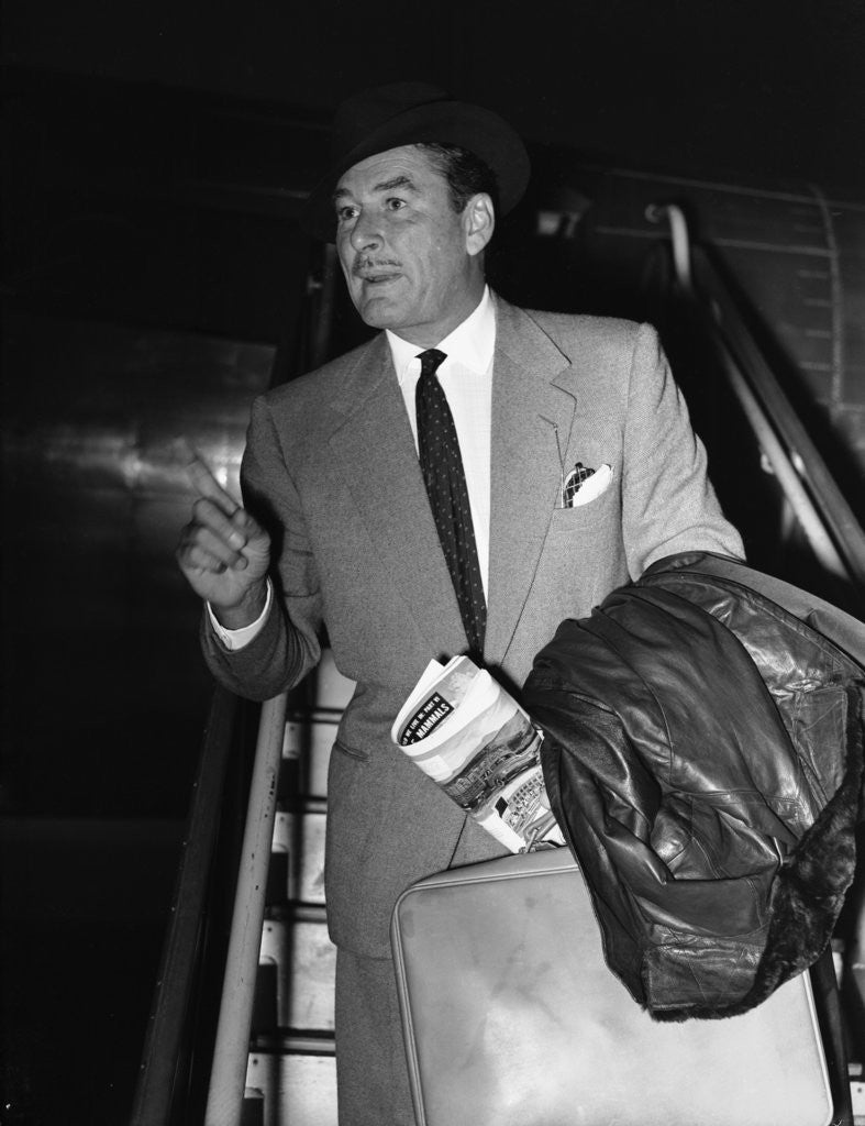 Detail of Errol Flynn arriving at London Airport 17th November 1953 by Anonymous